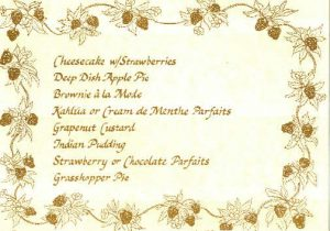 Strawberries Dessert Menu