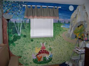 Wall mural of a magical land