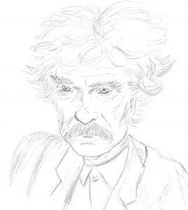 Mark Twain's face